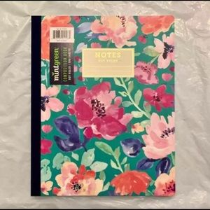 large bullet journal dotted notebook floral soft